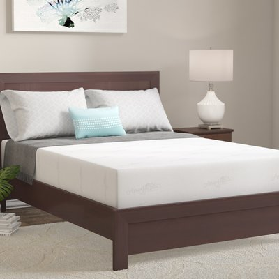 "10"" Firm Gel Memory Foam Mattress Mattress Size: Queen"