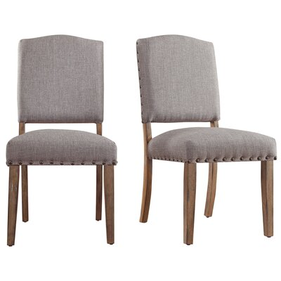 Alpena Dining Chair Upholstery Color: Linen/Gray