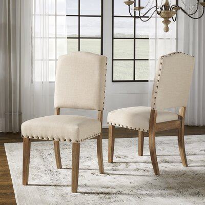 Alpena Dining Chair Upholstery Color: Linen/Beige