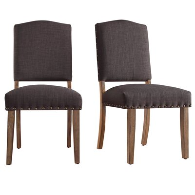 Alpena Dining Chair Upholstery Color: Linen/Dark Gray