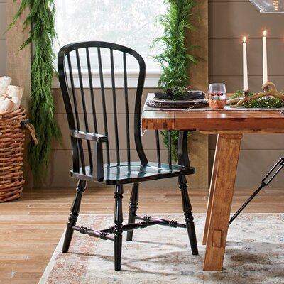 Abbott Solid Wood Dining Chair Finish: Black