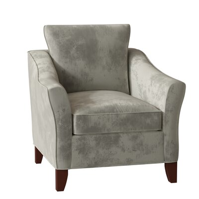 Alfresco Armchair Body Fabric: Aberdeen 21, Leg Color: Pecan, Arm Covers: Yes