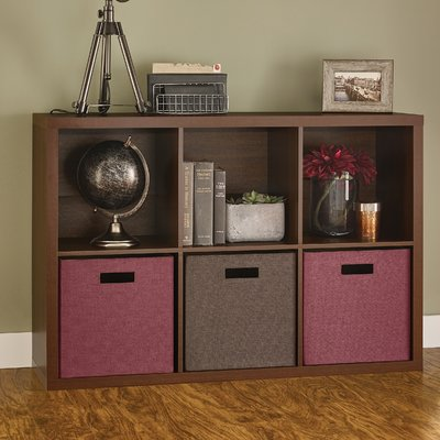 Decorative Storage Cube Bookcase Color: Dark Chestnut