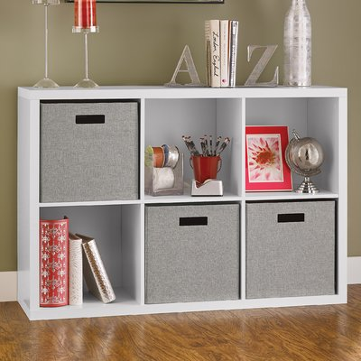 Decorative Storage Cube Bookcase Color: White