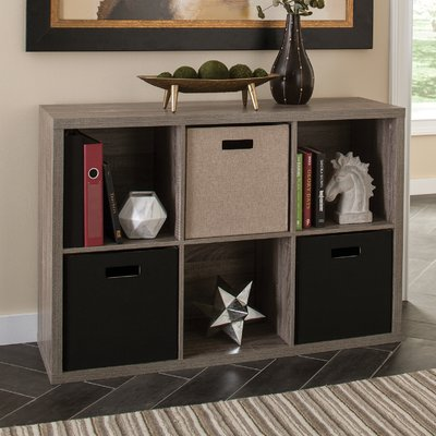 Decorative Storage Cube Bookcase Color: Weathered Gray