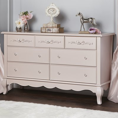 Aurora 7 Drawer Dresser Color: Blush Pink Pearl