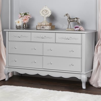 Aurora 7 Drawer Dresser Color: Akoya Gray Pearl