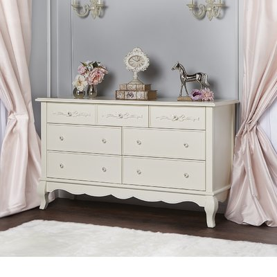 Aurora 7 Drawer Dresser Color: Ivory Lace