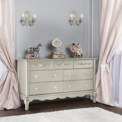 Aurora 7 Drawer Dresser Color: Metallic Gold Dust
