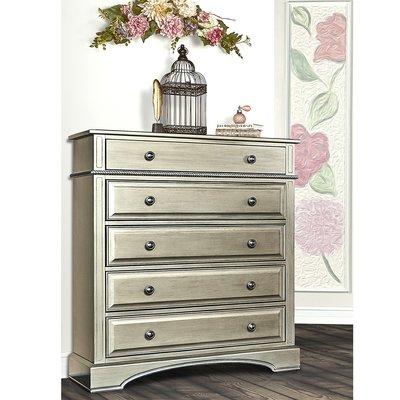5 Drawer Chest Color: Antique Bronze