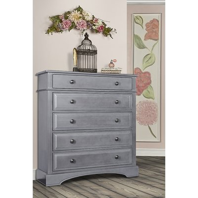 5 Drawer Chest Color: Storm Gray