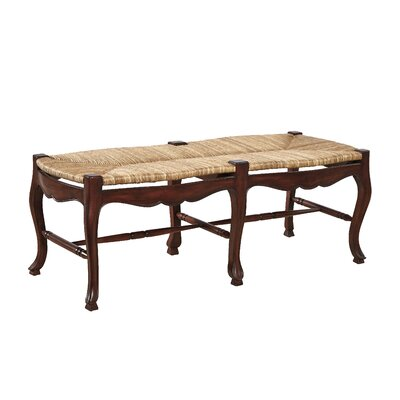 French Country Wood Bench Color: Walnut Brown on Mahogany