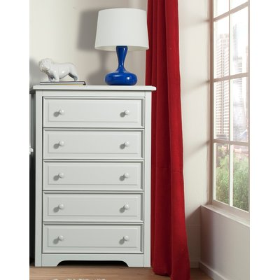 Brooklyn 5 Drawer Chest Color: White